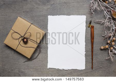 Christmas Gift With Handmade Paper