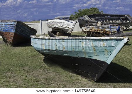 Image of Old and Dilapidated Cuban Refugee Boats