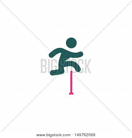 Jumping Icon Vector. Flat simple color pictogram