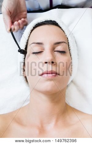 Beautiful Young Woman Receiving Antiaging Treatment In Spa.