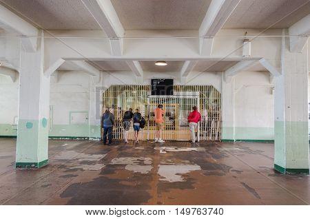 The Dining Hall Inside The Cellhouse On Alcatraz