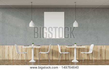 Family Cafe With Concrete Wall