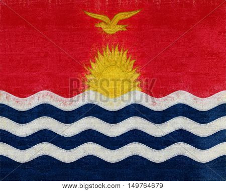 Illustration of the flag of Kiribati with a grunge look