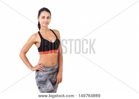 Fitness Coach With Bent Waist