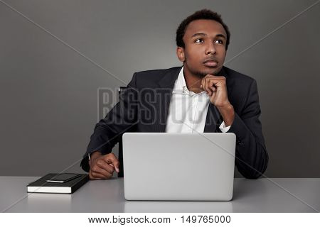 Contemplating African Businessman