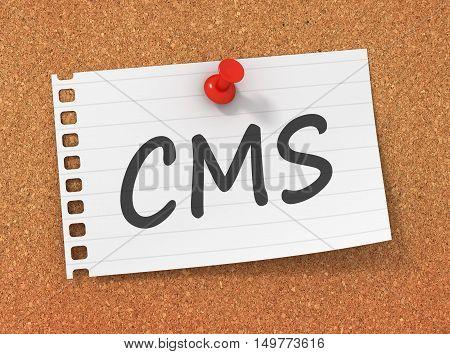 cms 3d illustration isolated on white background