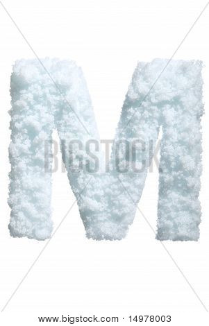 Letter from snow style alphabet. Isolated on white background. With clipping path. poster