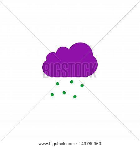 Precipitation Icon Vector. Flat simple color pictogram