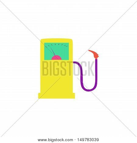 Gas station Icon Vector. Flat simple color pictogram