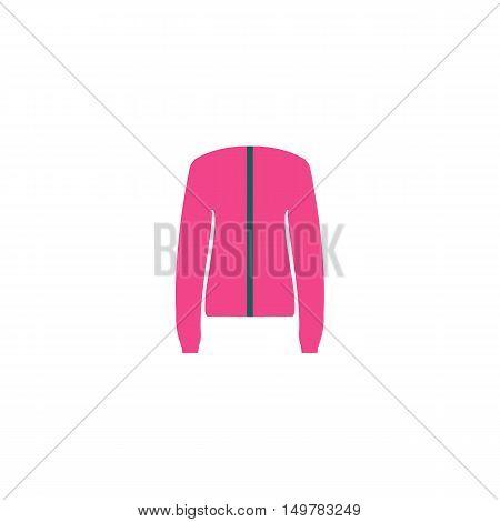 Coat Icon Vector. Flat simple color pictogram