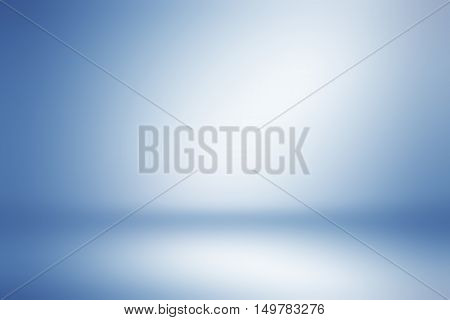 Light blue gradient abstract background. Empty room for display product