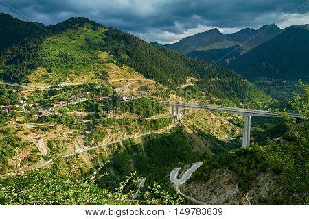 Highway E90 below Metsovo, North of Greece