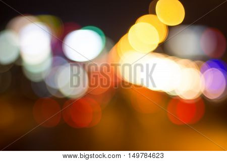 light blurred of light car abstract background / beautiful background of the night city