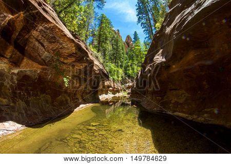 West Fork Oak Creek trail in Sedona