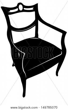 antique chair silhouette