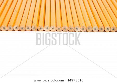 Row of Unsharpened Pencils