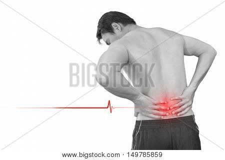 A man problem chronic low back pain isolated