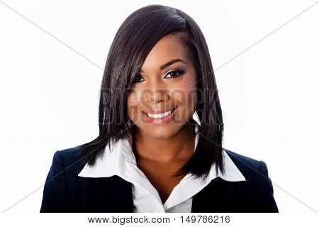 Face Of Beautiful Smiling Business Woman