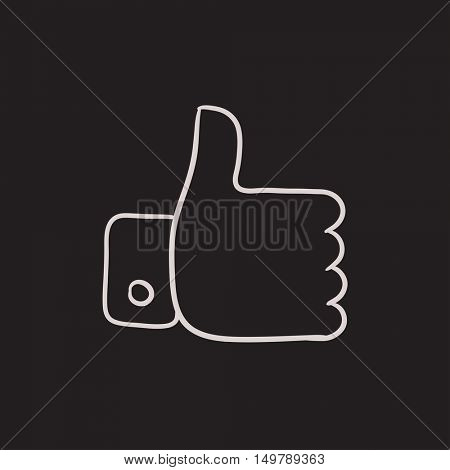 Thumb up vector sketch icon isolated on background. Hand drawn Thumb up icon. Thumb up sketch icon for infographic, website or app.