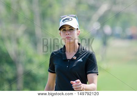 CHONBURI - FEBRUARY 27: Paula Creamer of USA in Honda LPGA Thailand 2016 at Siam Country Club Pattaya Old Course on February 27 2016 in Chonburi Thailand.
