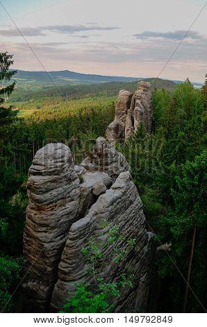 Sandstone Rock Formations In Bohemian Paradise (cesky Raj), Czech Republic