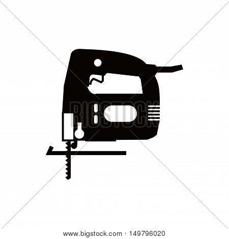 fretsaw icon stock vector illustration flat design
