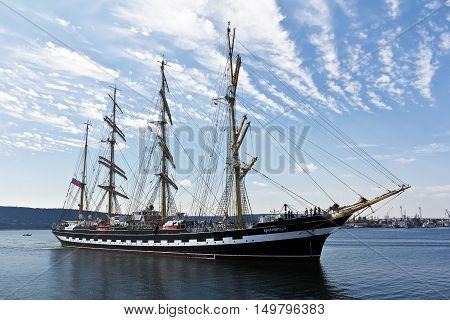 Varna, Bulgaria - October 01: international Tall Ships fleet is returning to the Black Sea 2016.the SCF Black Sea Tall Ships Regatta. The Russian