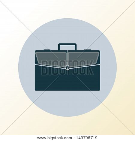 Briefcase icon. Business bag with pockets. Vector illustration