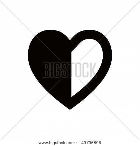heart icon stock vector illustration flat design