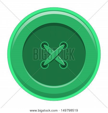 Buttons sewing, button shirt clothing, vector illustration isolated object