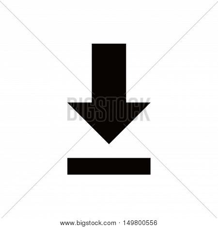 download icon stock vector illustration flat design