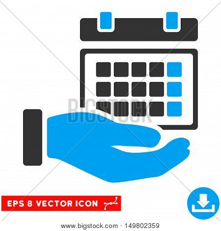 Blue And Gray Service Timetable EPS vector pictograph. Illustration style is flat iconic bicolor symbol on a white background.