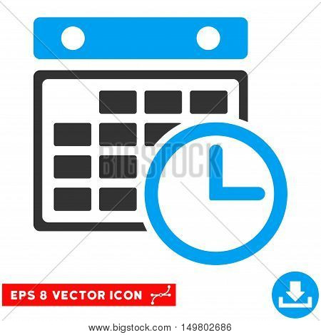 Blue And Gray Timetable EPS vector pictogram. Illustration style is flat iconic bicolor symbol on a white background.