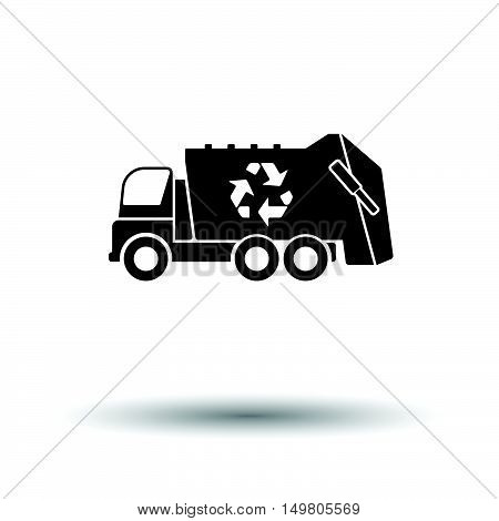 Garbage Car Recycle Icon
