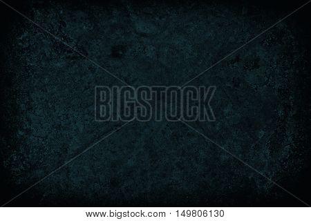 Dark Blue Scratched Grunge Wall Background Or Texture