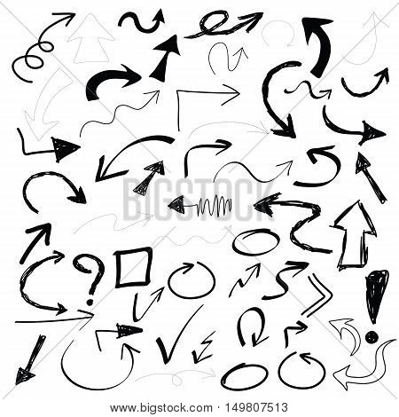 black points hand drawn doodle  set vector