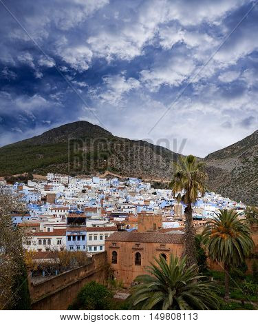 Panorama Of Chefchaouen Medina In Morocco, Africa