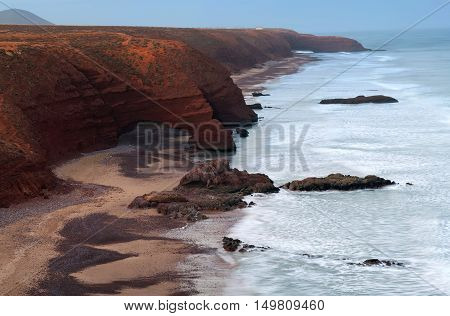 Legzira Beach In Morocco, North Africa