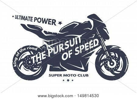 Sport superbike motorcycle Labels badges emblem. Vector illustration.