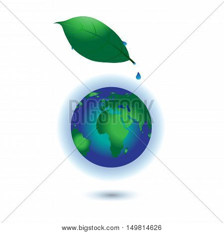 Global warming. This earth irradiation concept is an awesome depiction a worldwide energy disaster. Elements of this image furnished by NASA.Vector Illustration EPS 10.