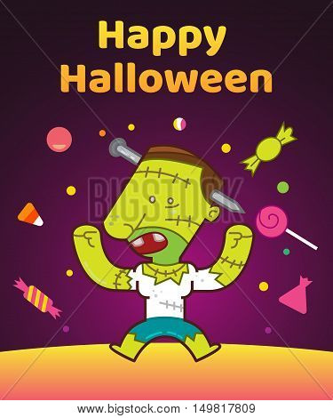 The Living Dead, Halloween Character, Vector Illustration Background