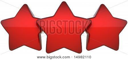 Three red star shapes vote