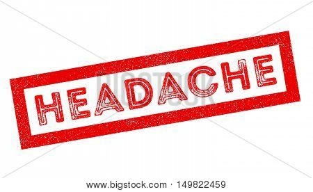 Headache Rubber Stamp