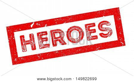 Heroes Rubber Stamp