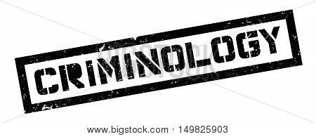 Criminology Rubber Stamp