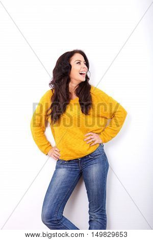 Woman Laughing With Hands On Hips