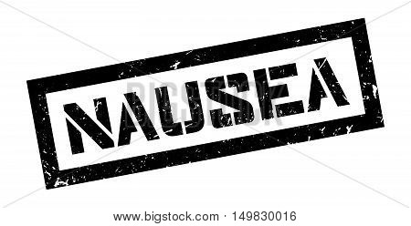 Nausea Rubber Stamp