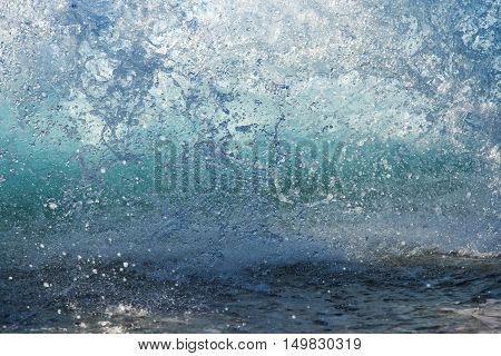 beautiful splashing sea water, natural wave background
