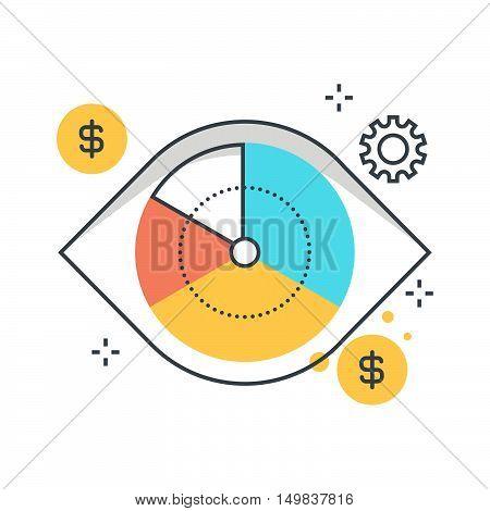 Color Line, Vision, Marketing Illustration