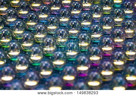 Selective focus and Close up of led diode panel light colourfull
